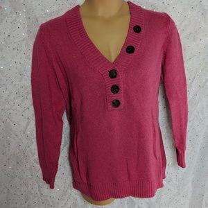 ➕ PLUS XXL GAP Pink Button Sweater